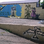 Thrasbird Renee Gagno falfestménye Kaliforniában.