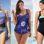 A teltkarcsú nők is találnak divatos fürdőruhákat a Swimsuit for All idei kollekciójában.