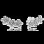 Százszorszépek 16.900 forintért. A fülbevaló hat apró virággal fut végig fülein, sterling ezüst és peremes foglalású cirkónia teszi lenyűgözővé.